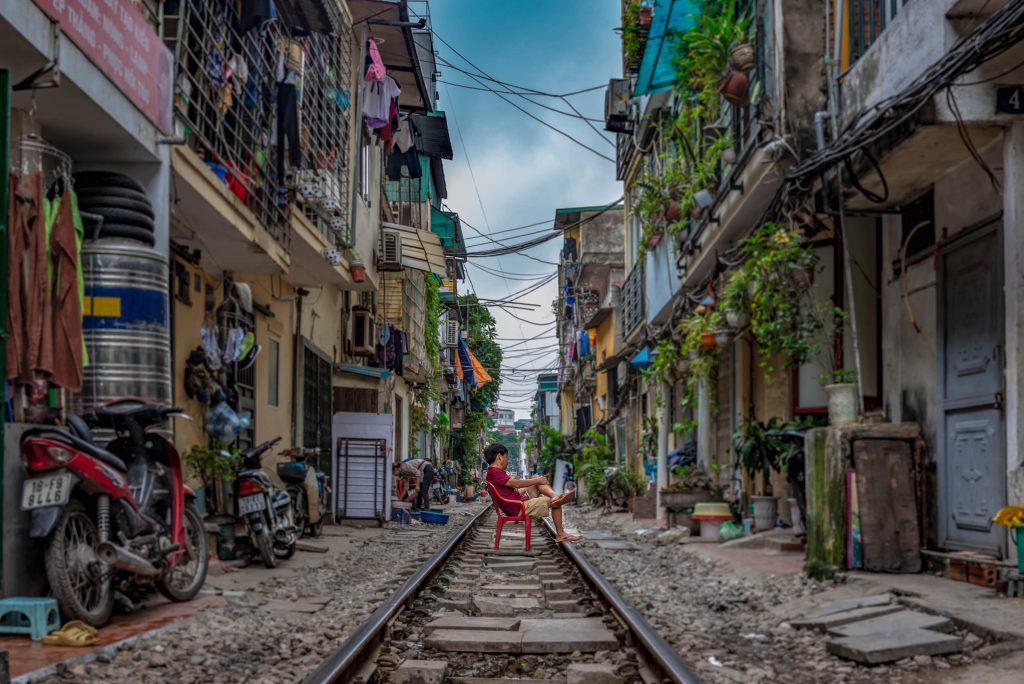 Hanoï - rue du train
