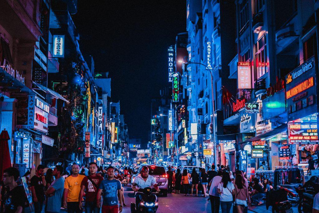 Hanoï - rue de nuit
