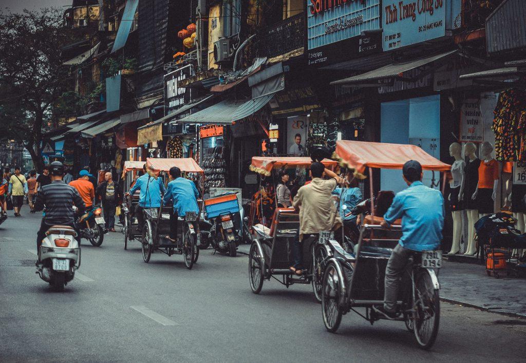 Hanoï - balade en cyclo-pousse